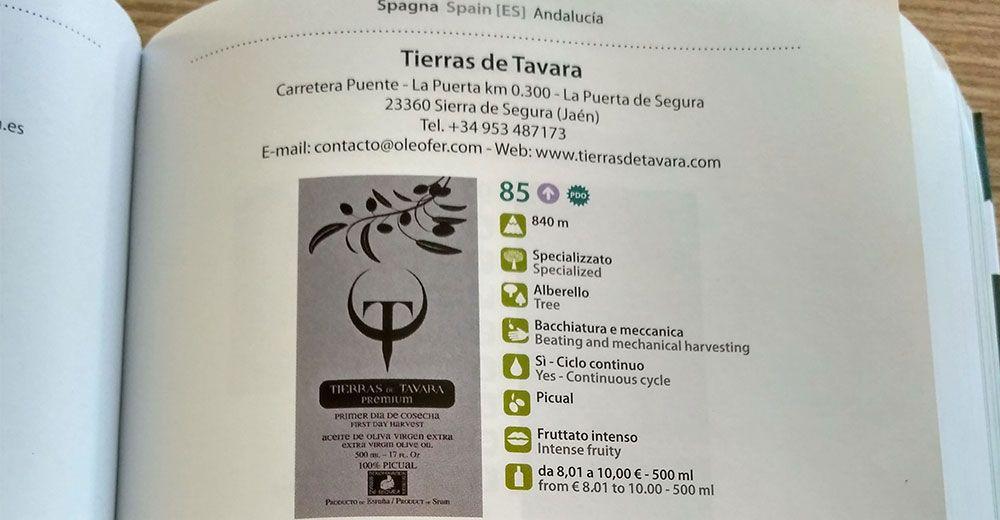 Tierras de Tavara Premium en la Guía Flos Olei 2017